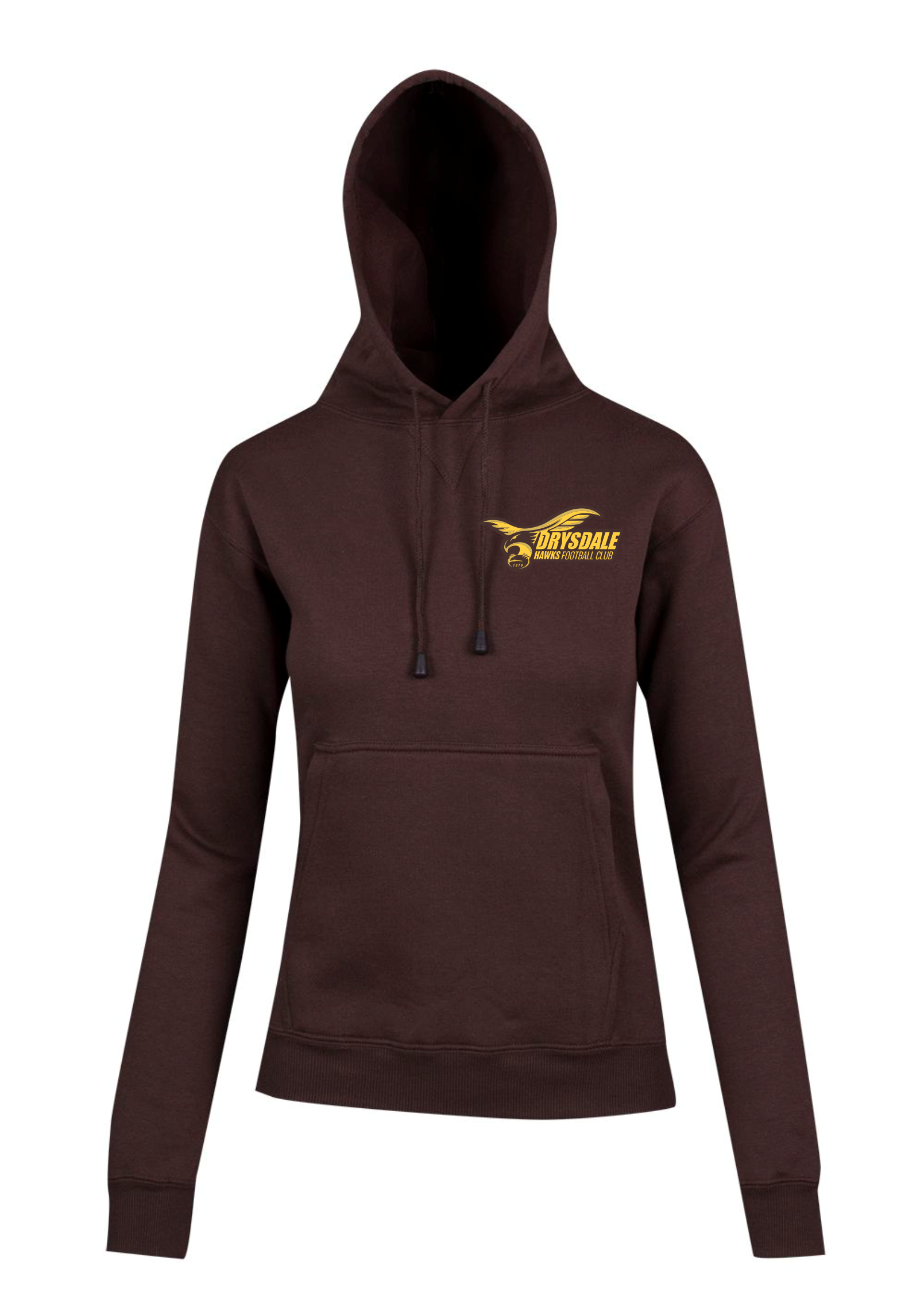 Juniors Brown Club Hoodie with Logo
