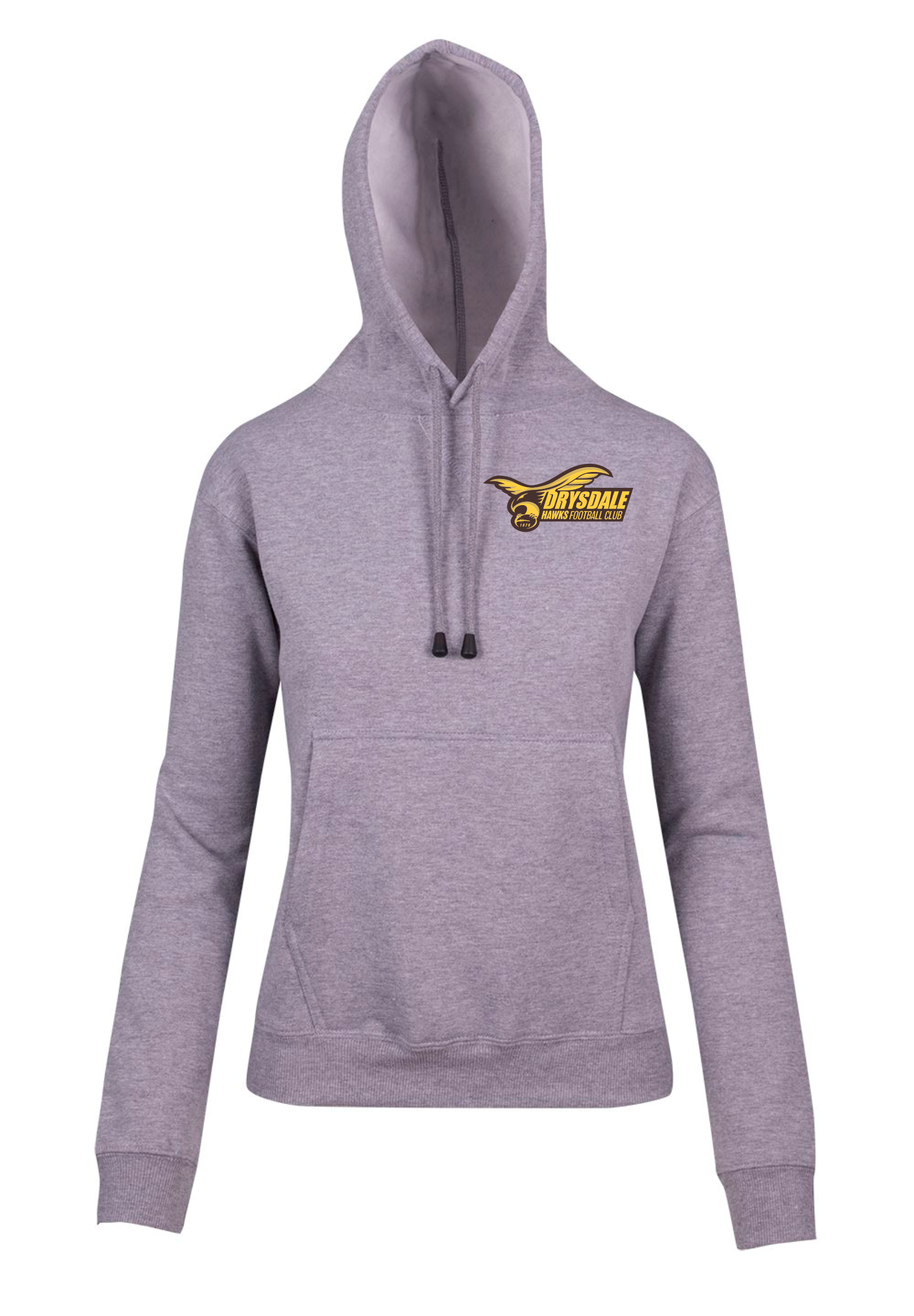 Juniors Grey Marle Club Hoodie with Logo