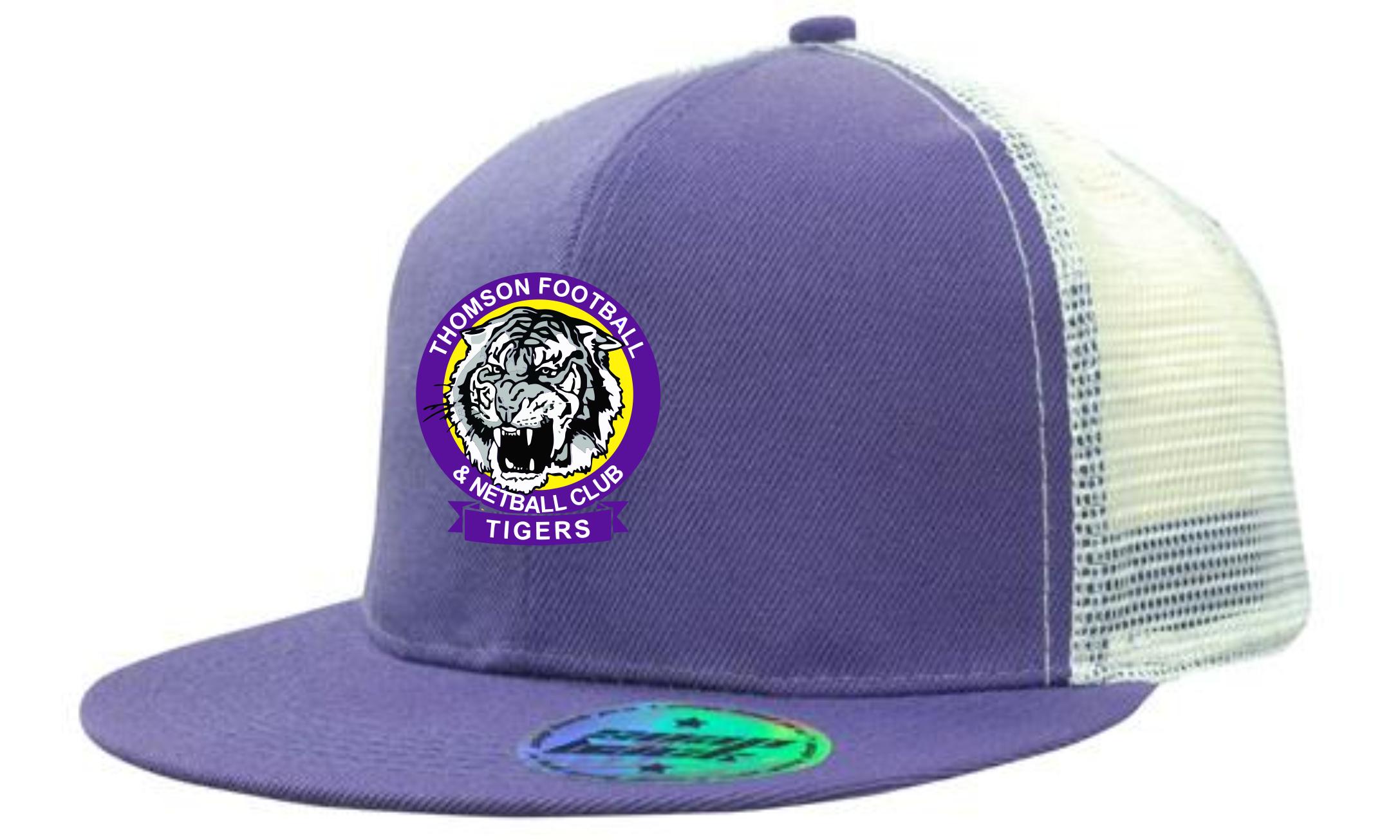 Flat Peak Club Cap with snap back