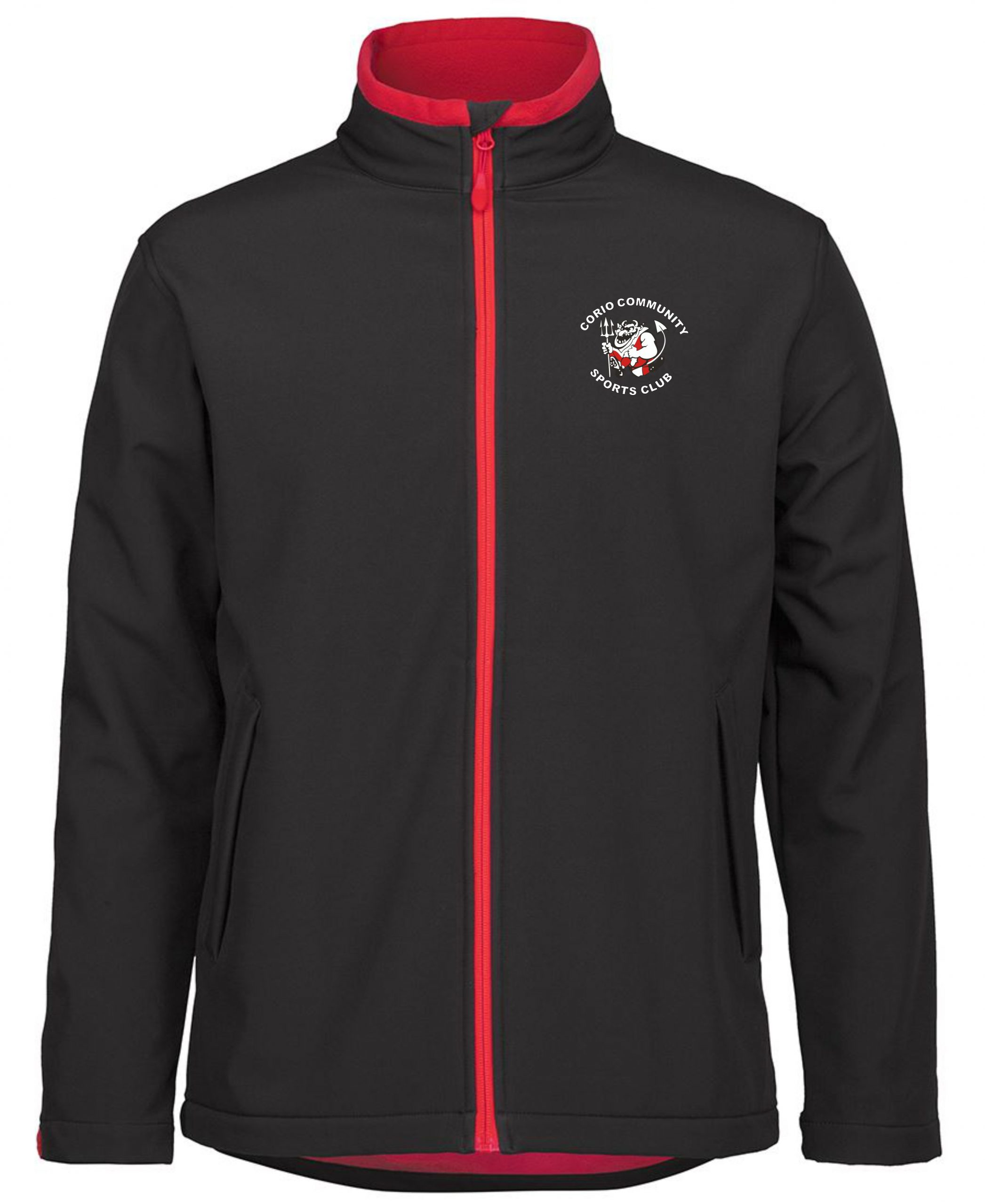 Soft Shell Jacket in Black/Red