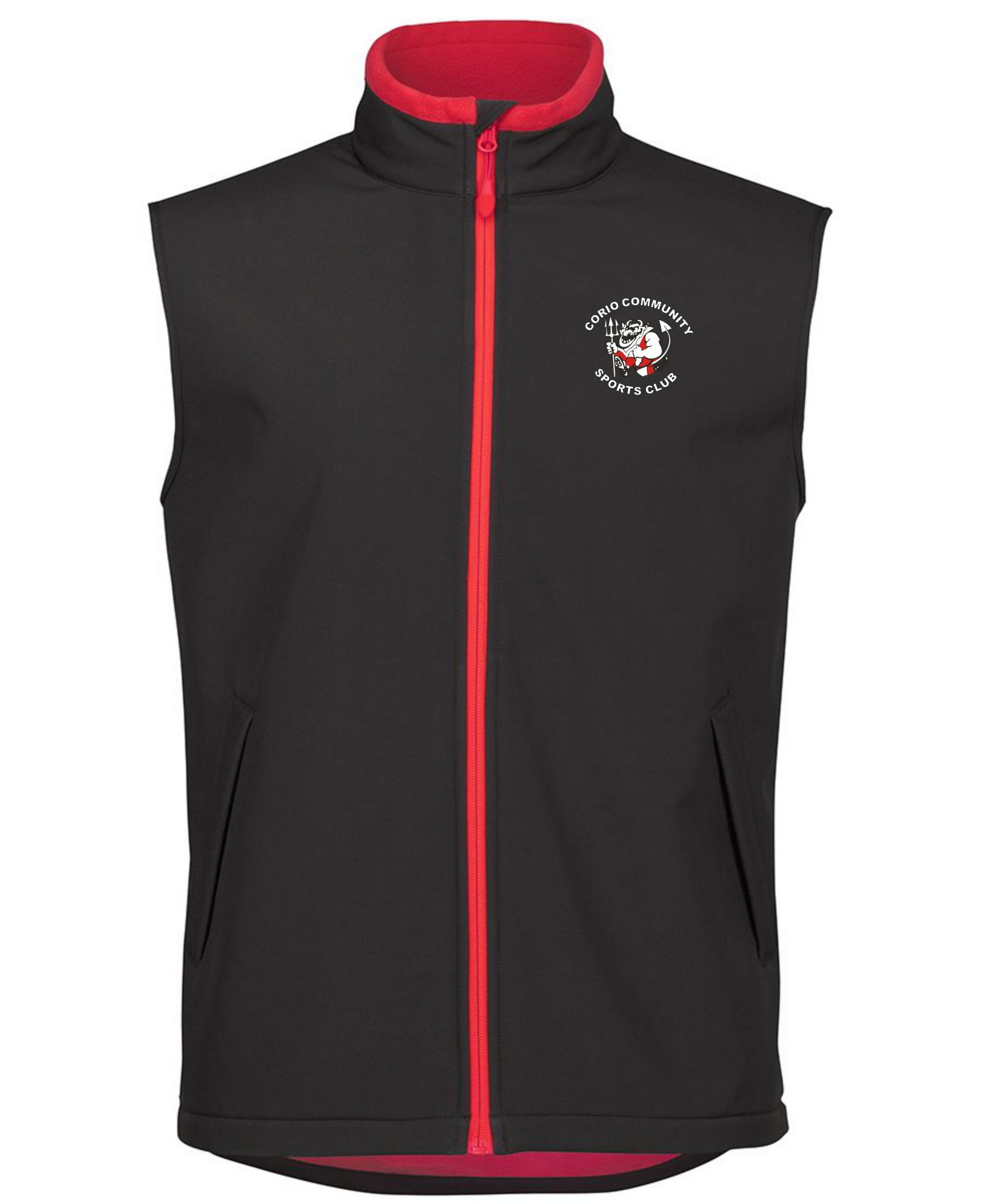 Soft Shell Vest in Black/Red