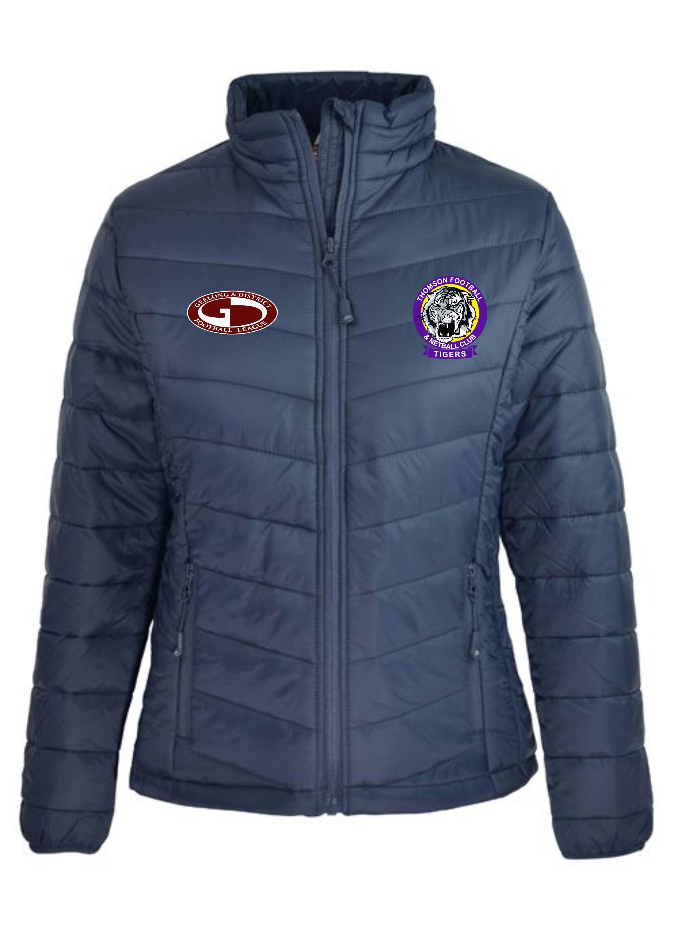 Ladies Navy Puffer Jacket