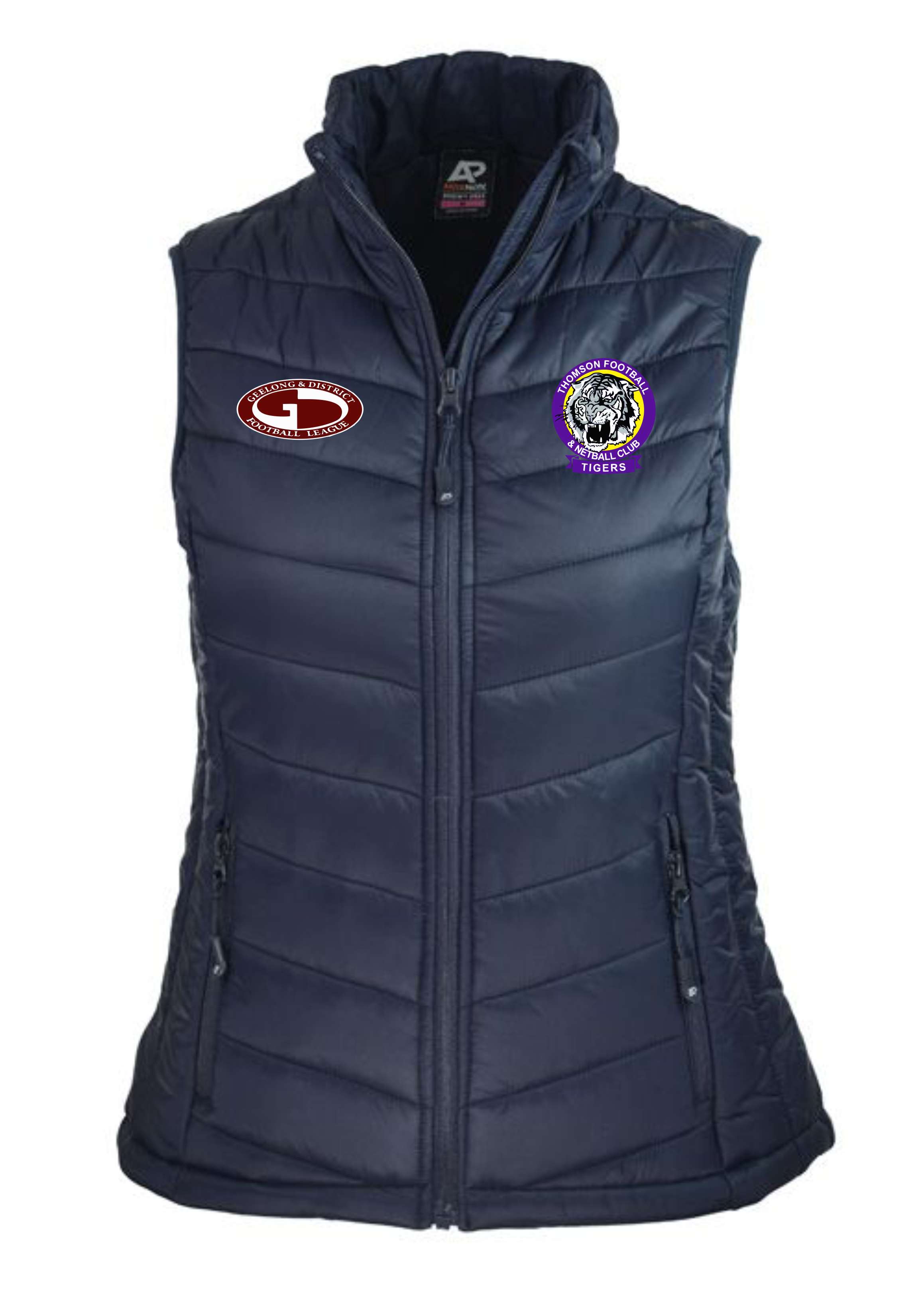 Ladies Navy Puffer Vest