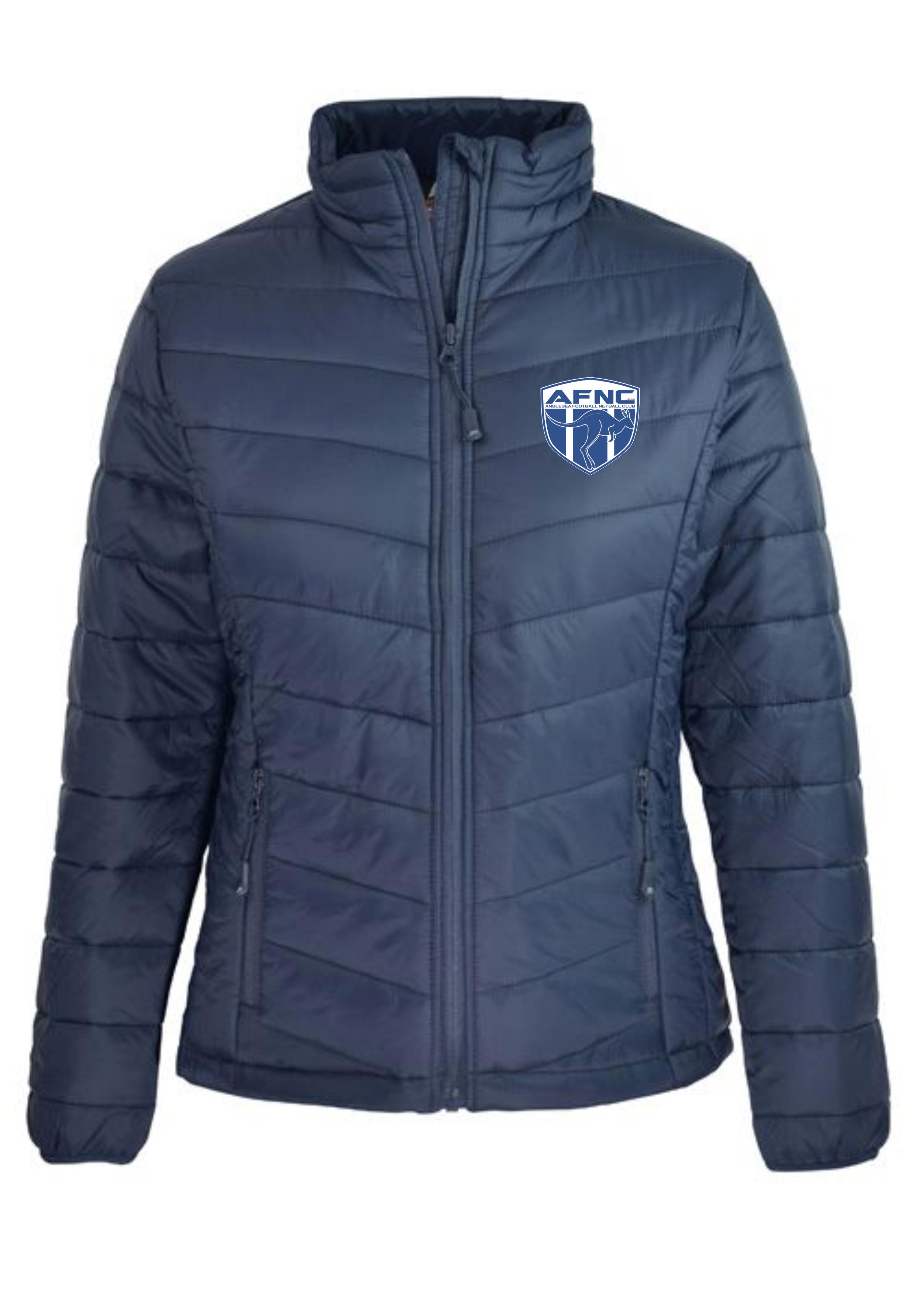 Ladies Navy Buller Puffer Jacket