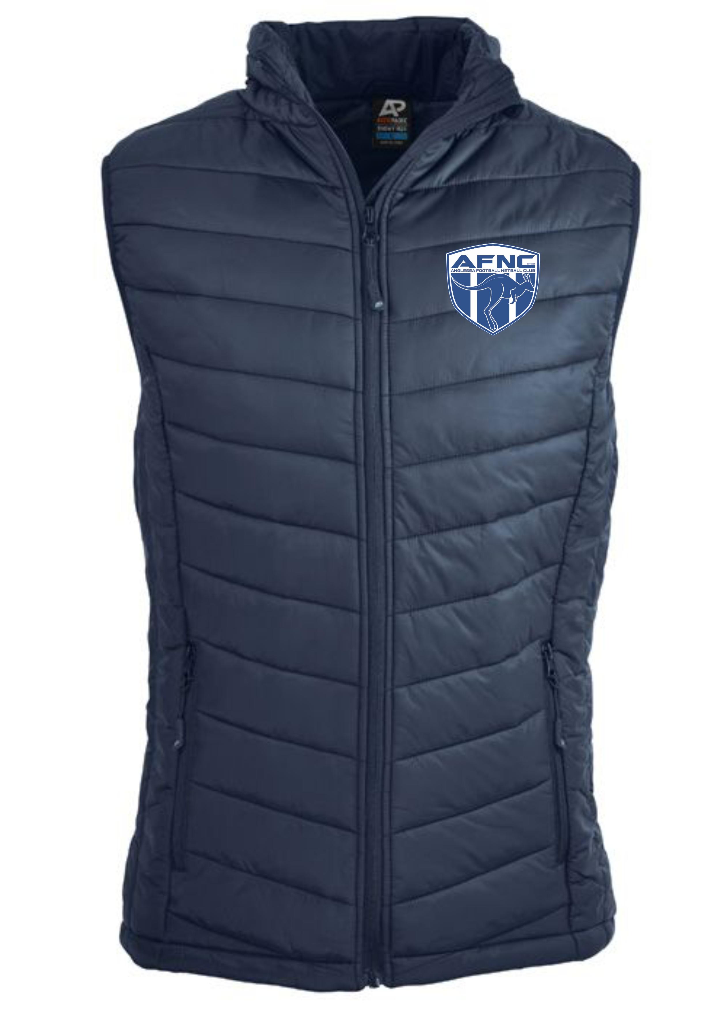 Men's Navy Snowy Puffer Vest
