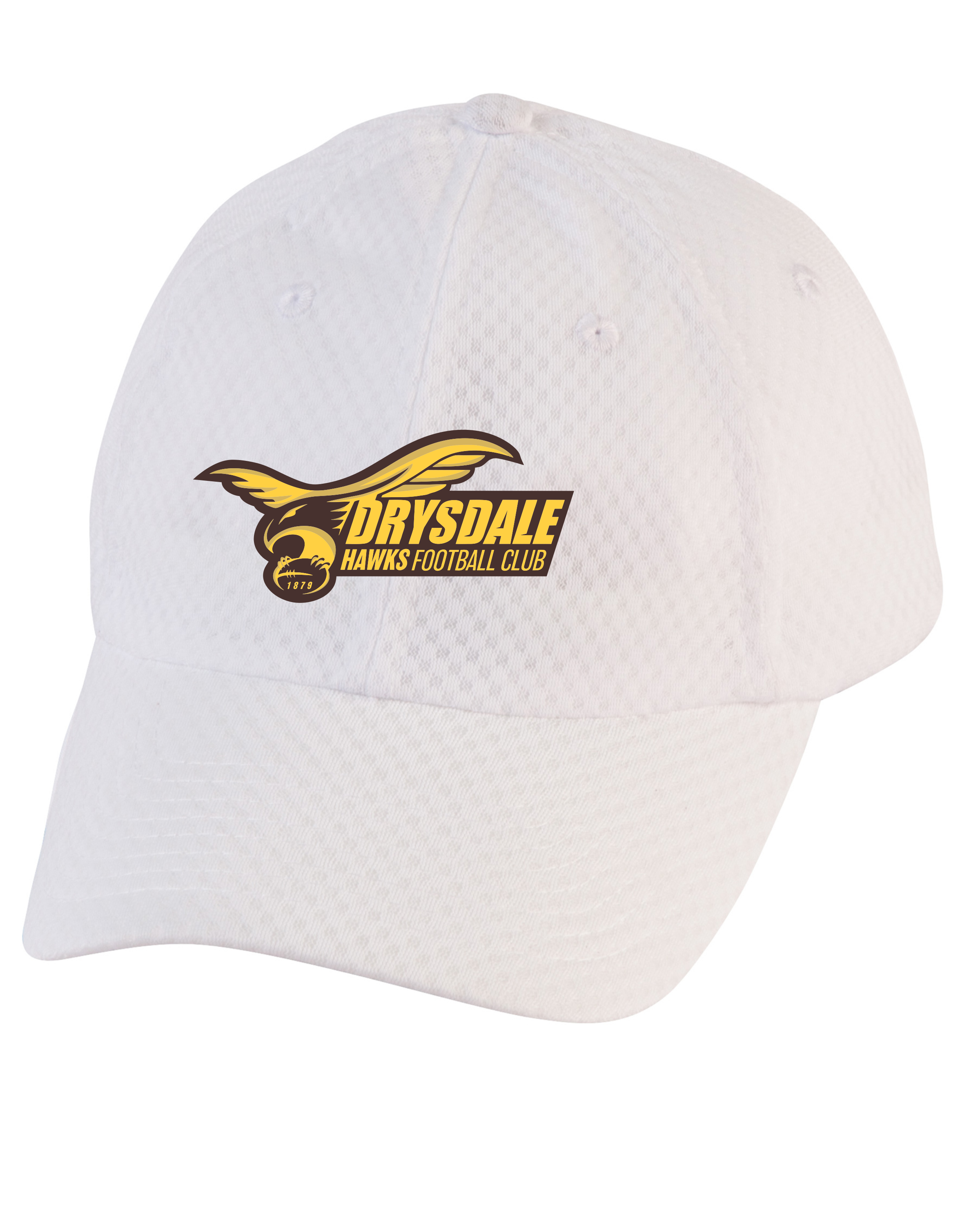 Lightweight Mesh Training Cap in White