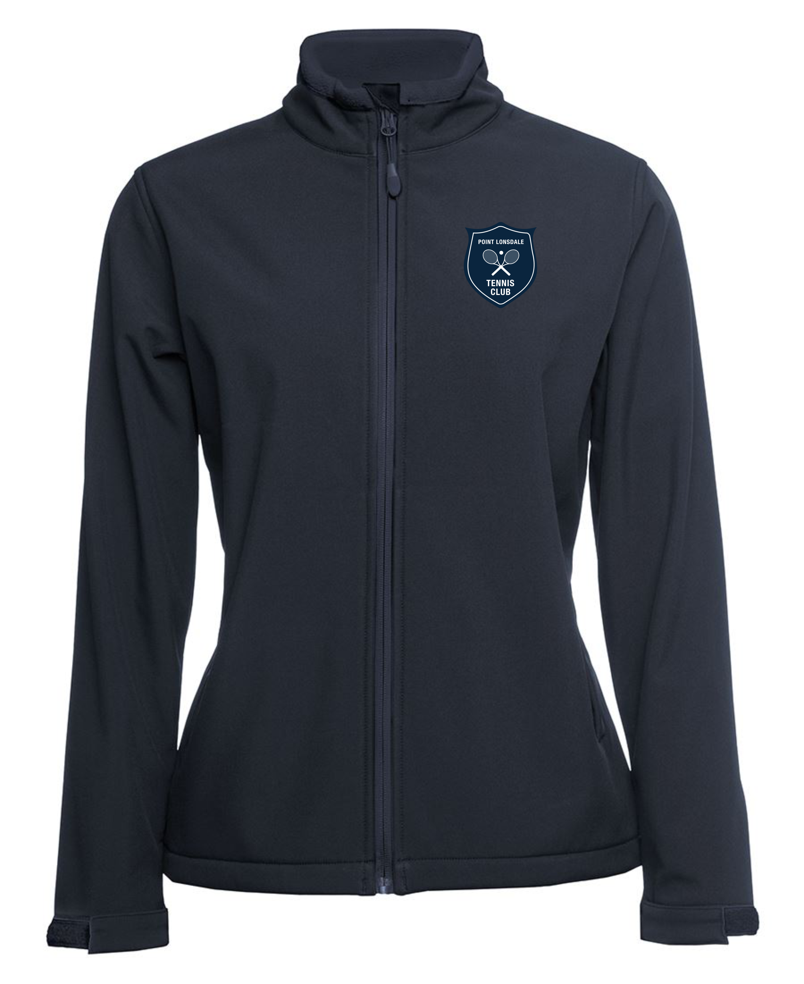 Ladies Water Resistant Soft Shell Jacket in Navy