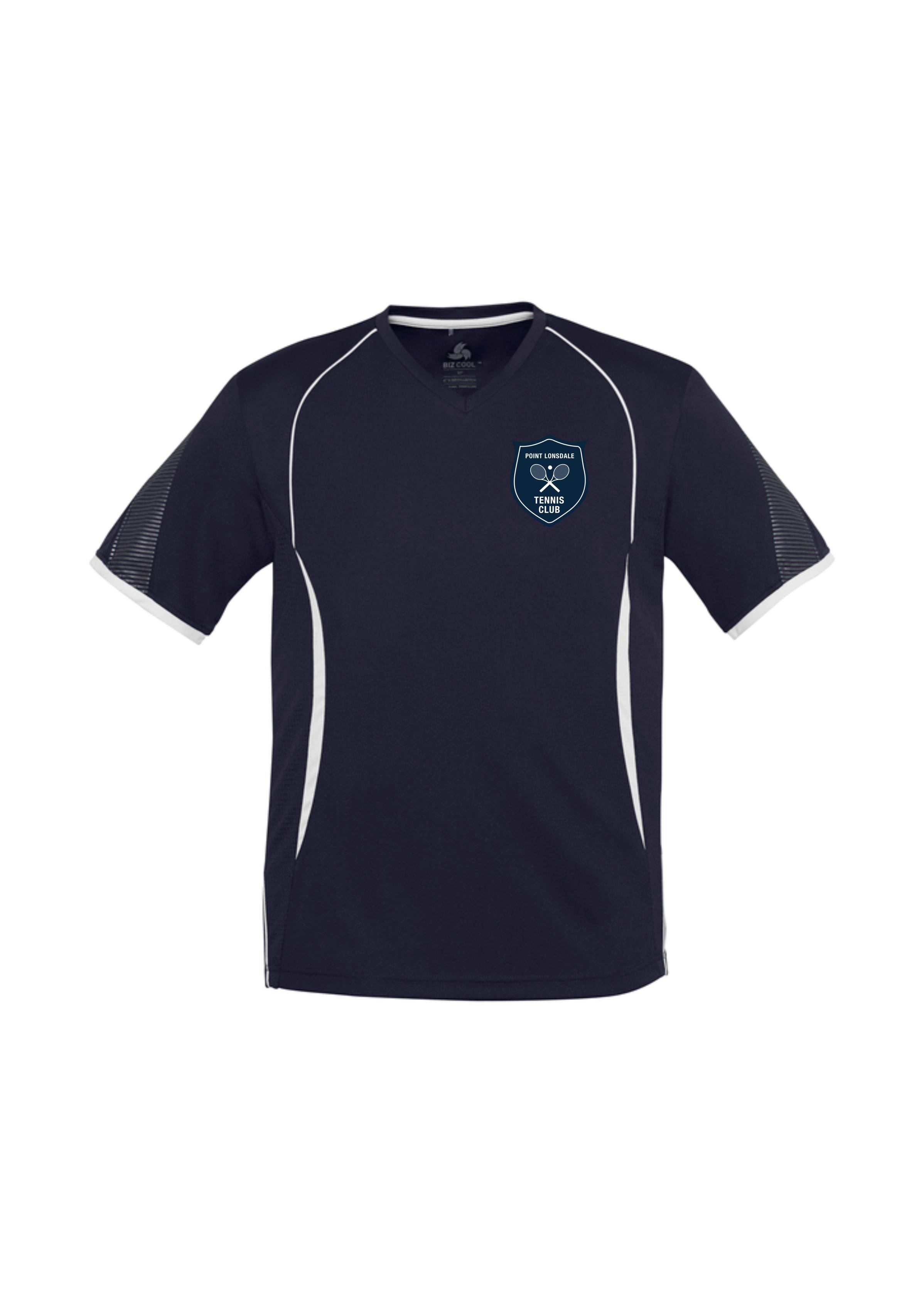 Kids Razor Tee Shirt in Navy/White