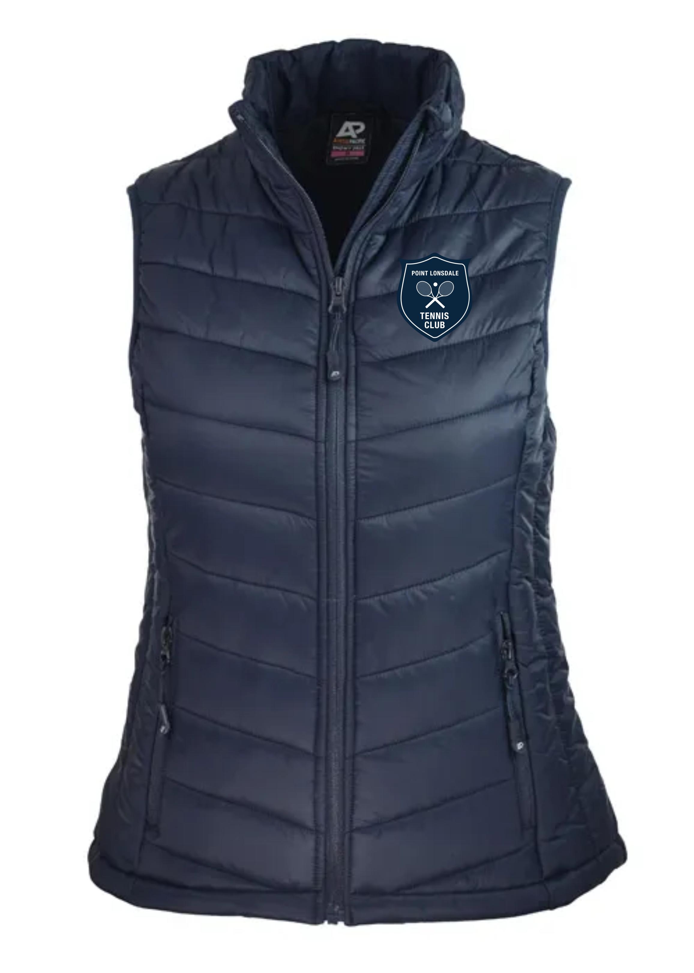 Ladies Snowy Puffer Vest in Navy