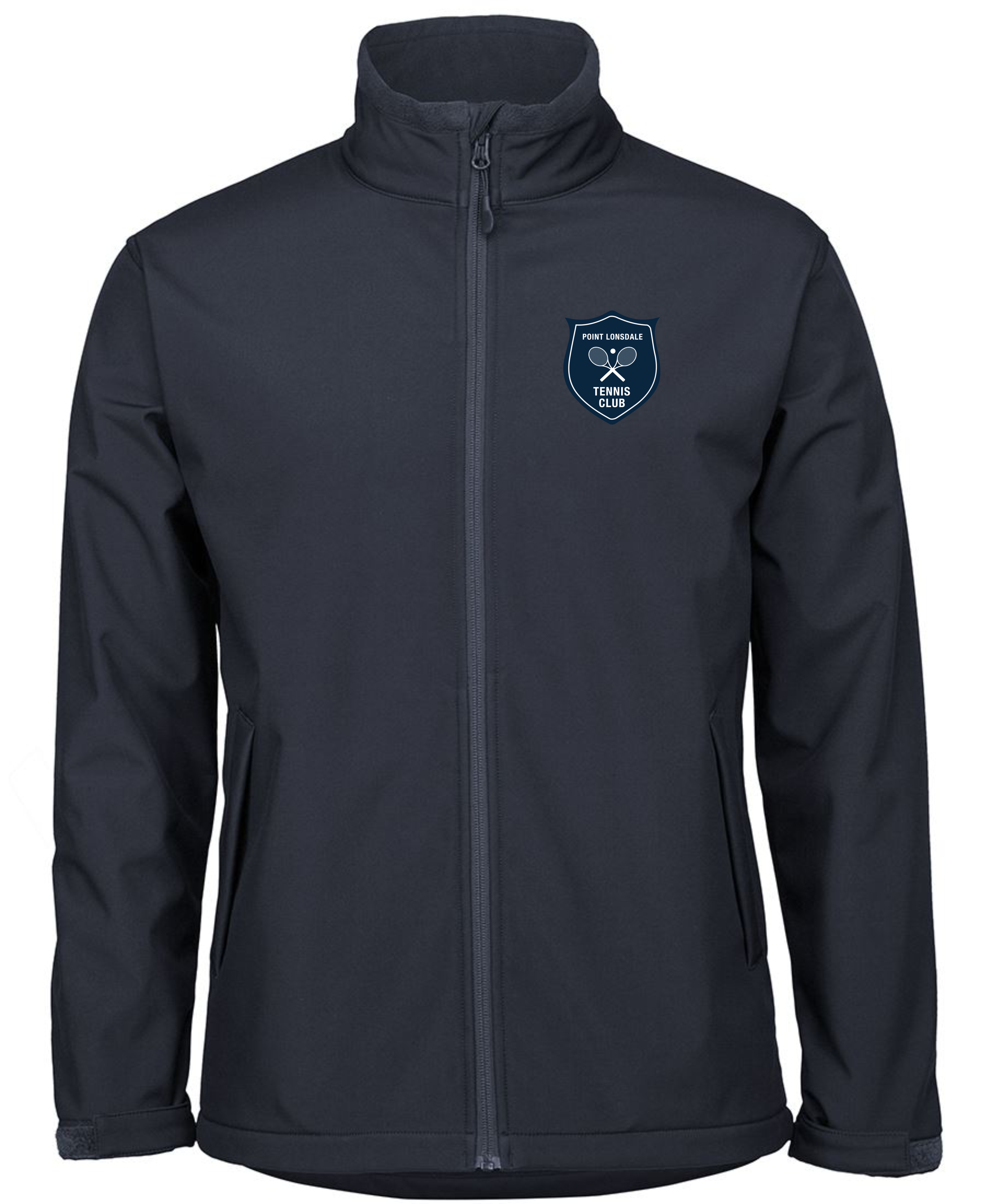 Kids Water Resistant Soft Shell Jacket in Navy